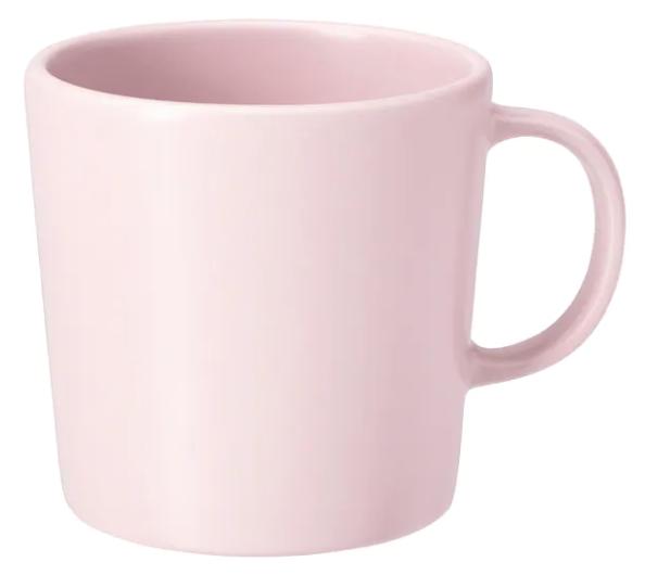 Cute pink IKEA mug for Cricut project