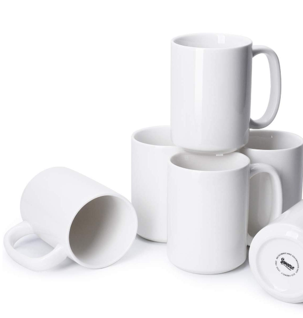 Blank white mugs for Cricut crafts