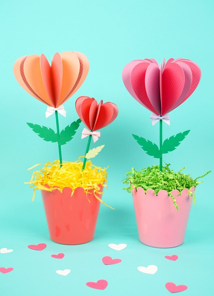 paper heart flowers