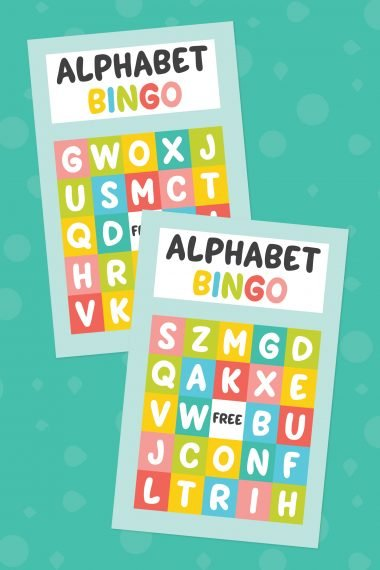 Practice letter recognition with this fun printable alphabet bingo game. It's an easy no-prep activity that you can adapt for multiple age groups!