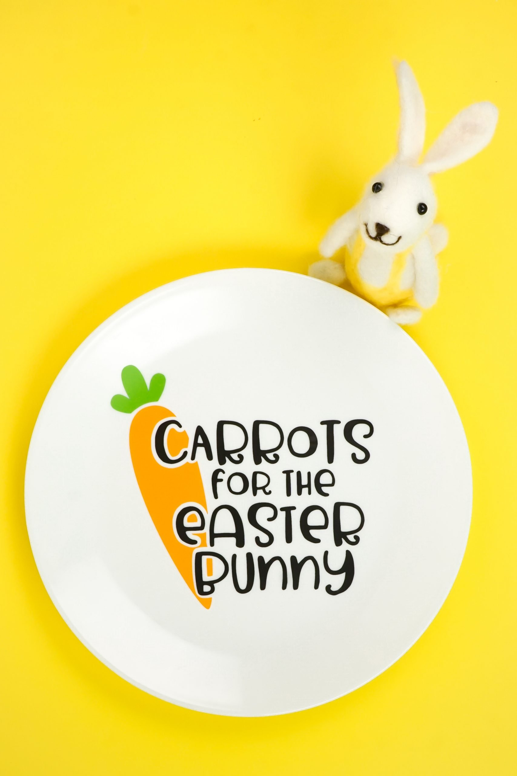 Carrots For The Easter Bunny Plate With The Cricut Hey Let S Make Stuff