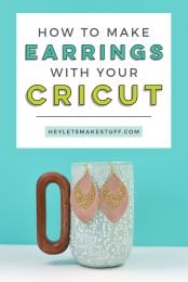 Make a fashion statement—using scraps from your craft room! These glitter and suede earrings are super easy to make using your Cricut. Get the free Cricut earrings SVG, too!