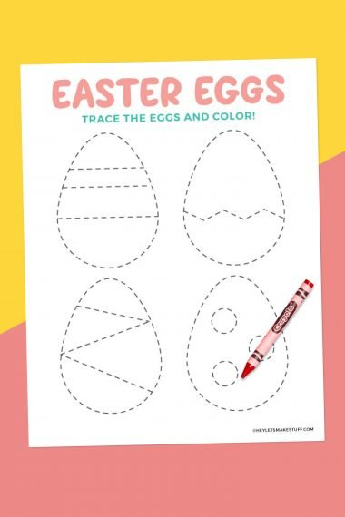 easter egg tracing worksheet