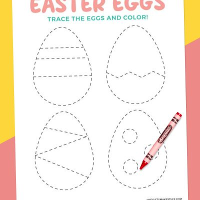 Free Printable Easter Egg Tracing Worksheet