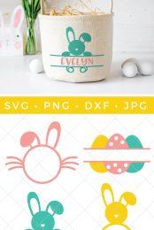 Easter monogram SVG files
