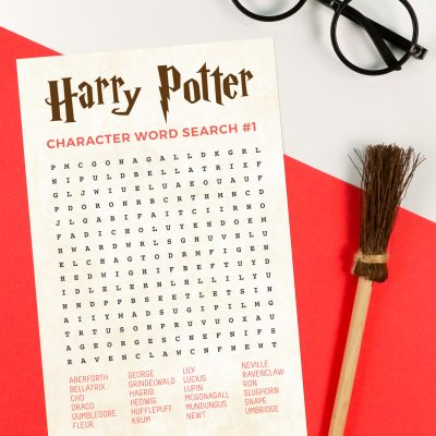 Printable Harry Potter Word Search with Characters