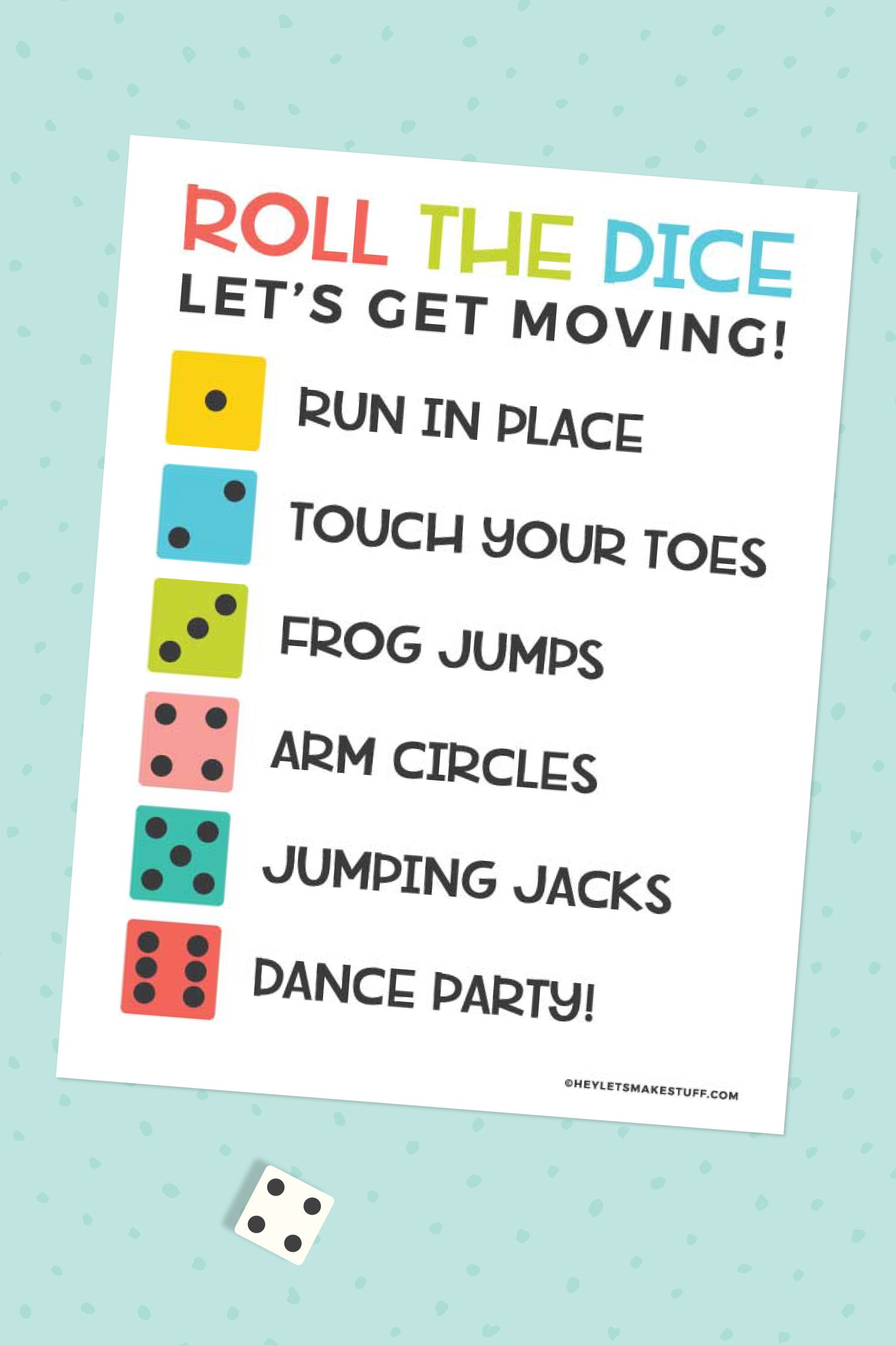 Keep your kids moving when they're stuck inside with this simple roll the exercise dice game! This game requires minimal materials so it's easy for everyone to get some exercise!