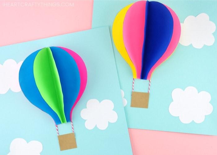 paper craft hot air balloon