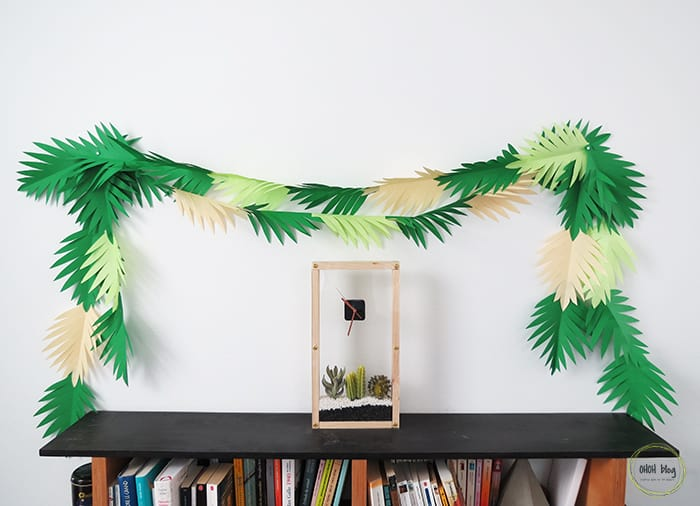 leaves garland paper craft