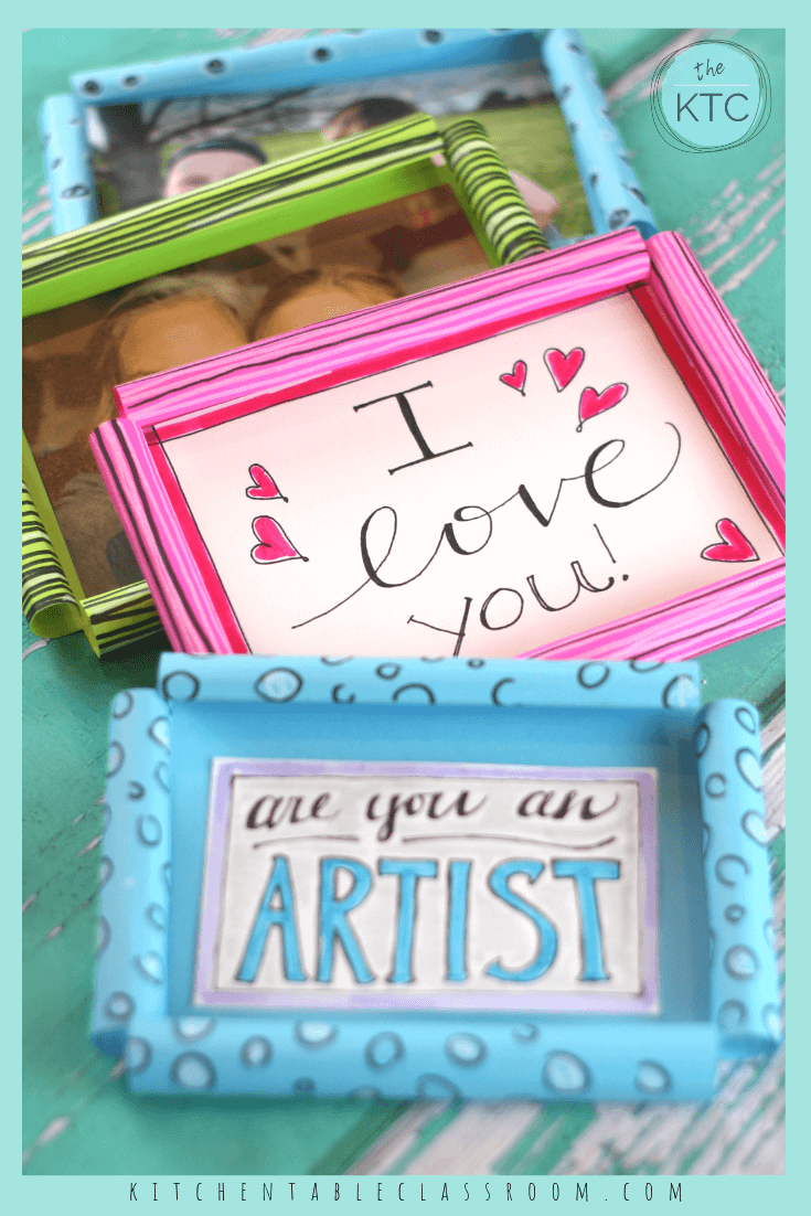 3D paper picture frame craft