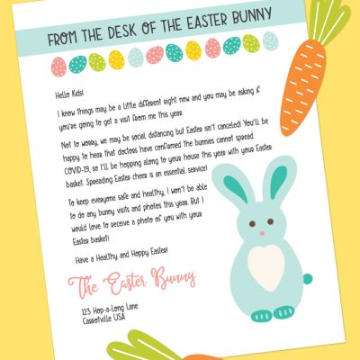 Printable Easter Bunny Letter During COVID-19
