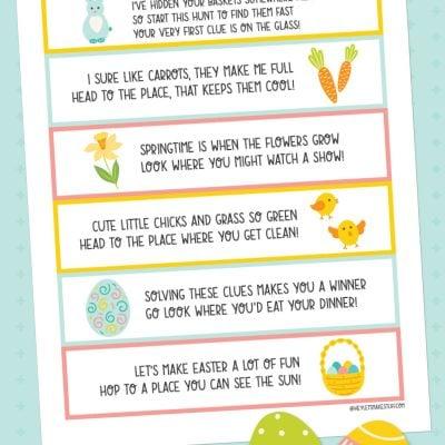 Fun Printable Easter Scavenger Hunt