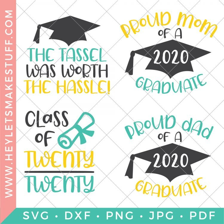 Four graduation-themed cut files.