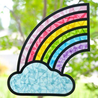 DIY Rainbow Suncatcher with the Cricut
