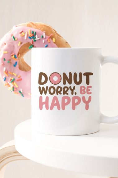 donut svg on coffee mug