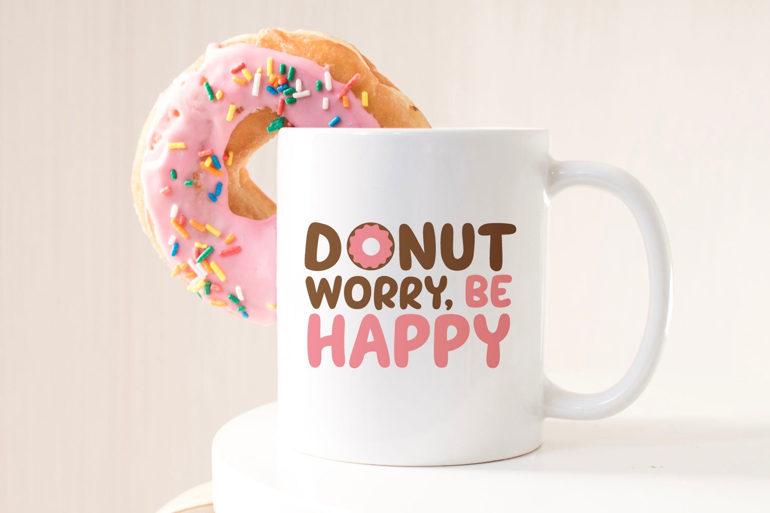 Donut SVG on a coffee mug with donut