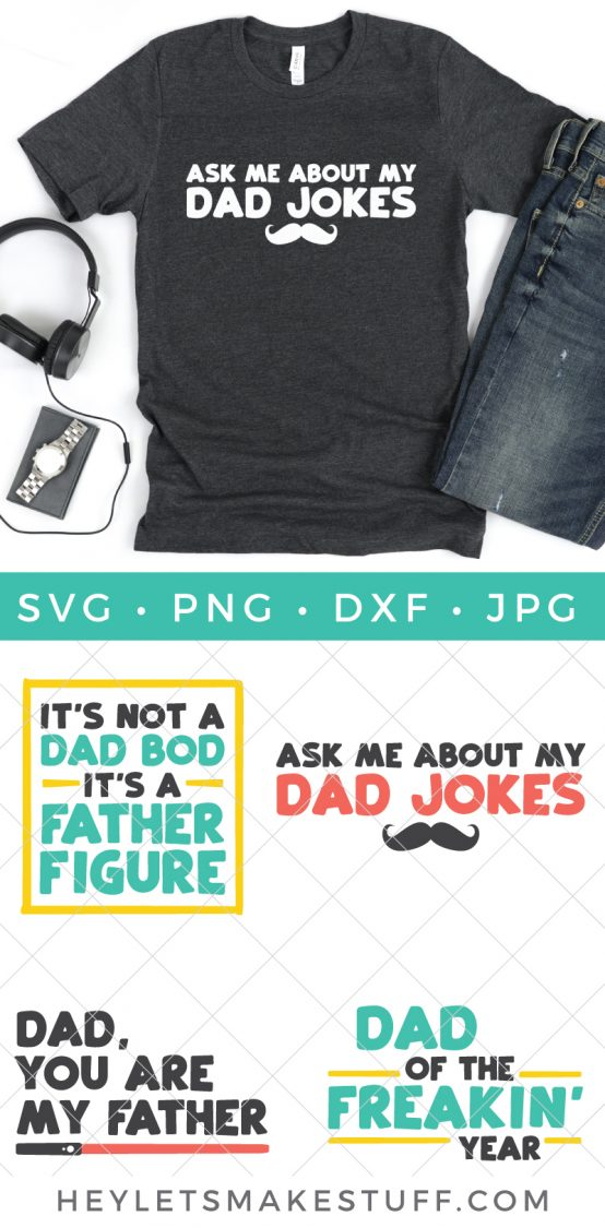 Funny Father's Day SVG bundle pin image