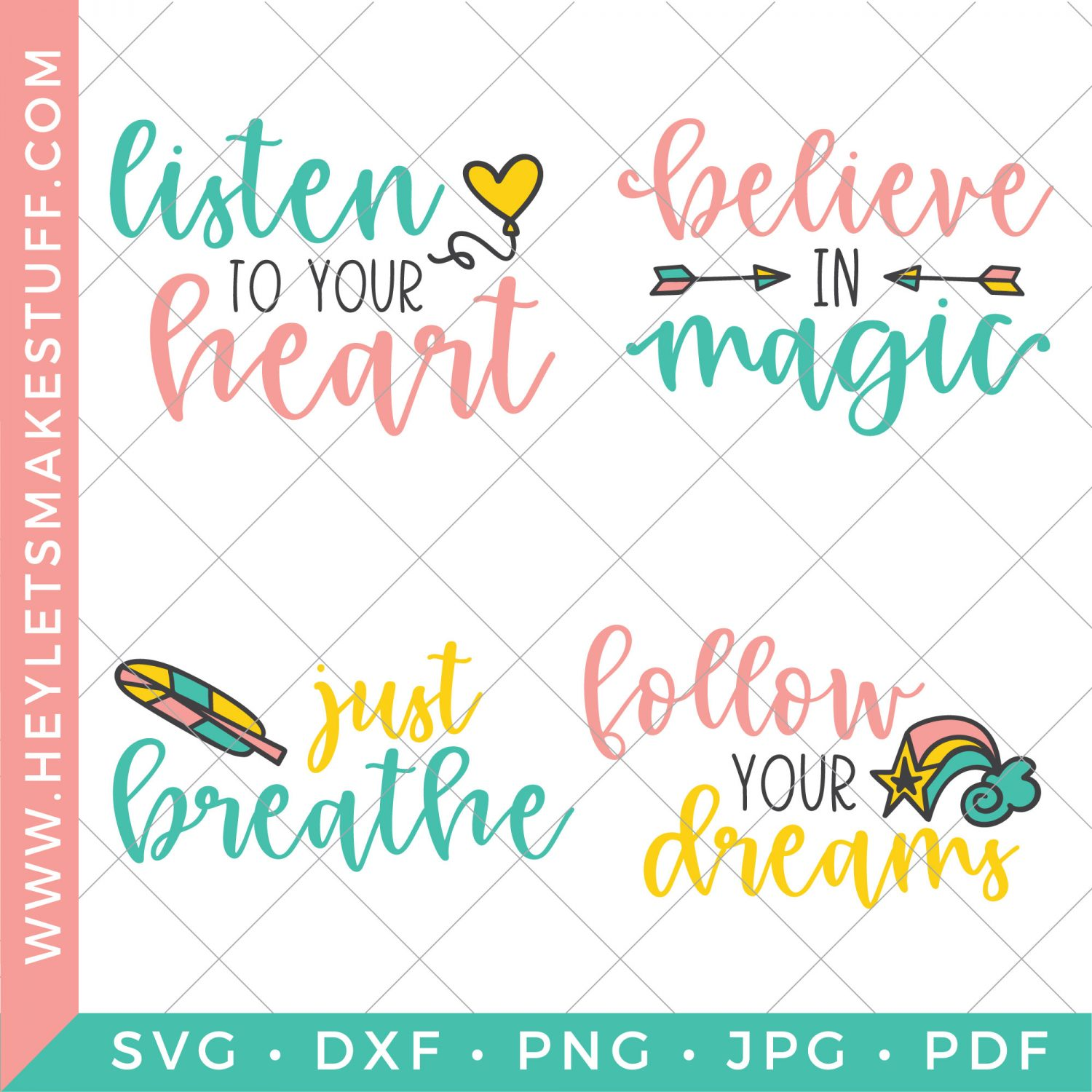 four inspirational SVG files