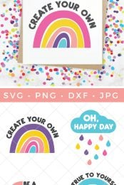 rainbow print and rainbow SVG files