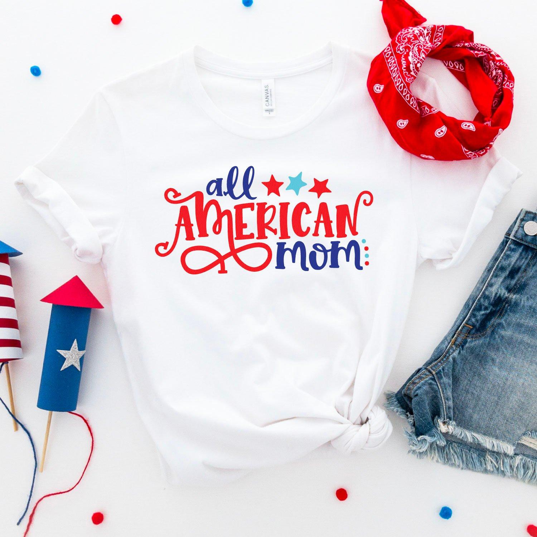 All American Mom SVG mockup