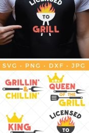 barbecue SVG pin image