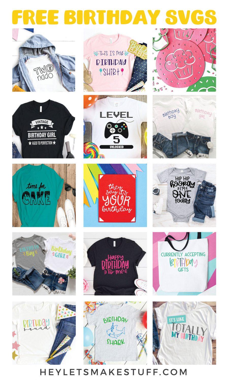 Free Birthday SVGs collage