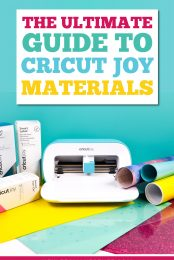 Cricut Joy may be small, but when it comes to materials, it's in a class of its own! Check out this guide to Cricut Joy materials and learn all my best tips and tricks for cutting them successfully.