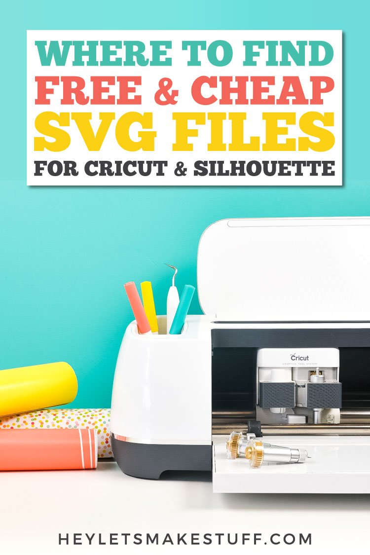 where to find cheap and free SVG files fro Cricut and Silhouette pin image