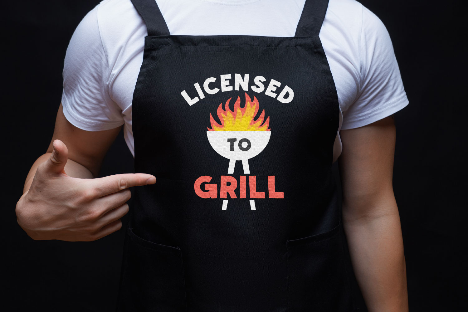 barbecue SVG on apron