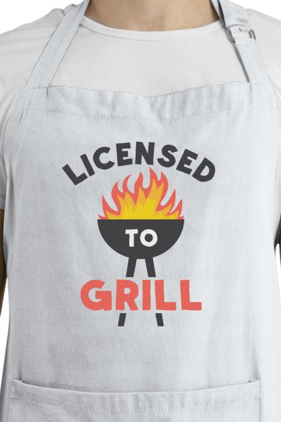 barbecue SVG file on apron