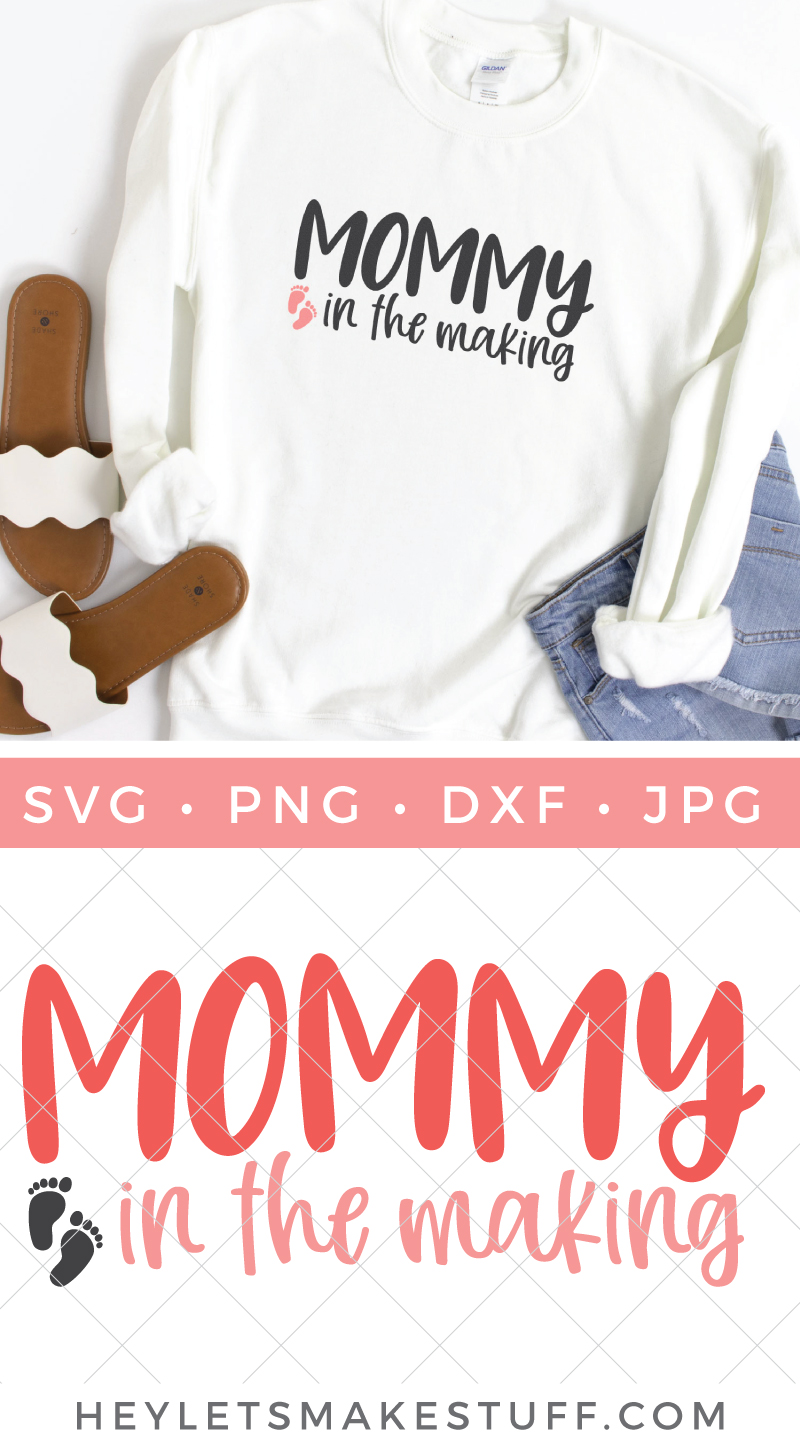 mommy in the making pin image