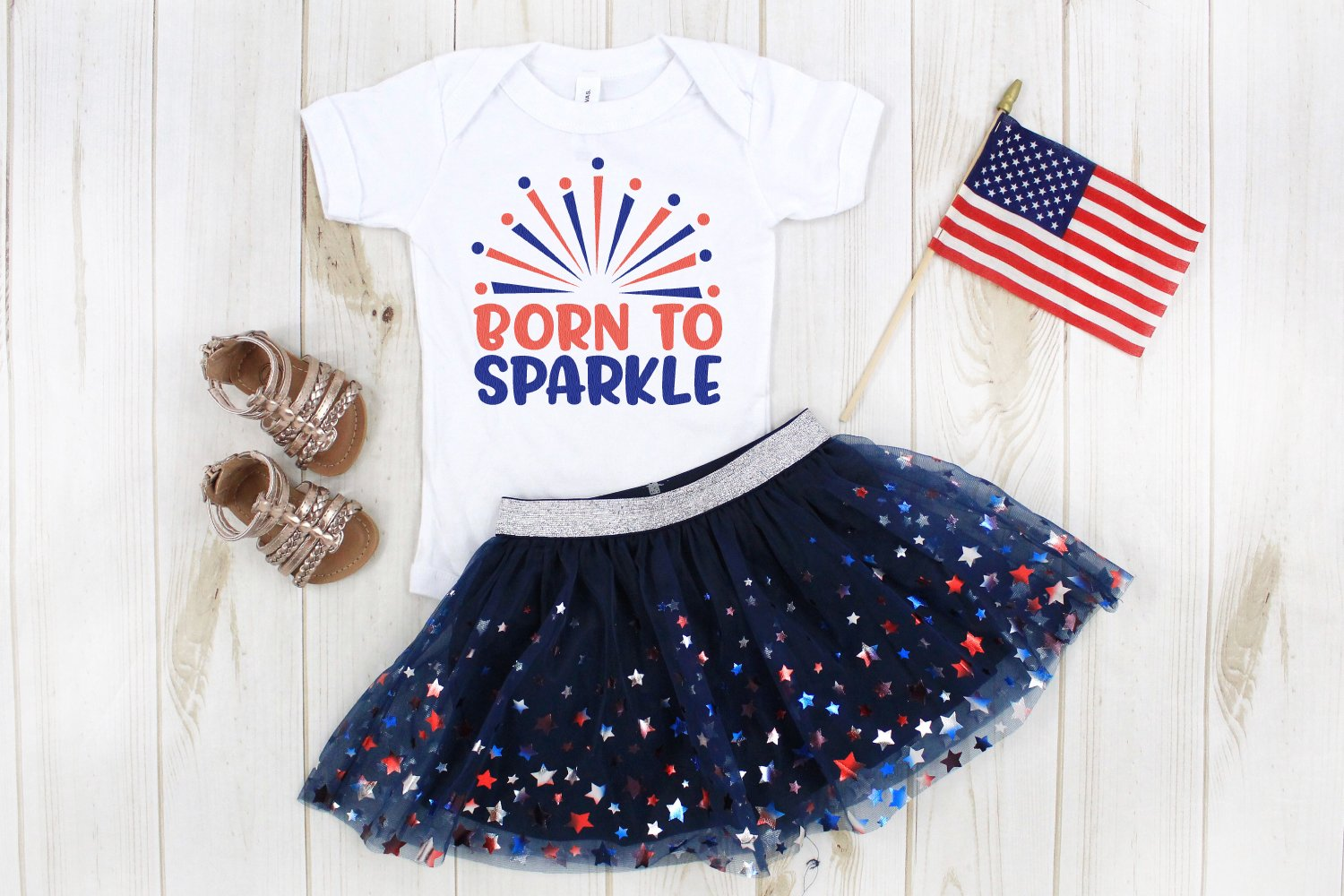 Born to Sparkle 4th of July SVG mockup