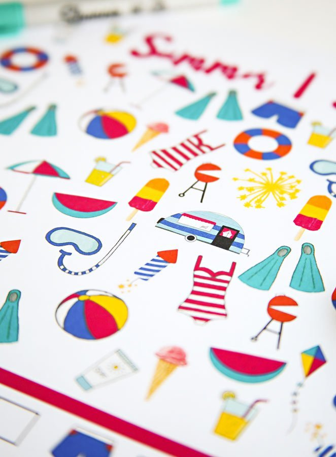 I Spy Summer printable game