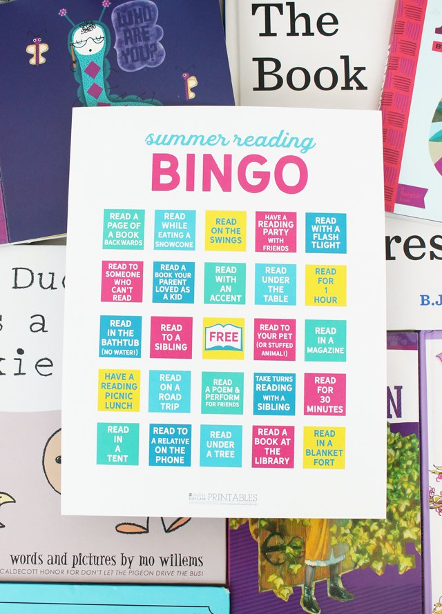 summer reading bingo printable