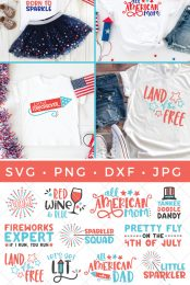 Get ready to celebrate the red, white, and blue with this all-American big Fourth of July SVG bundle! It's full of more than 20 SVG files for all your patriotic crafting needs!