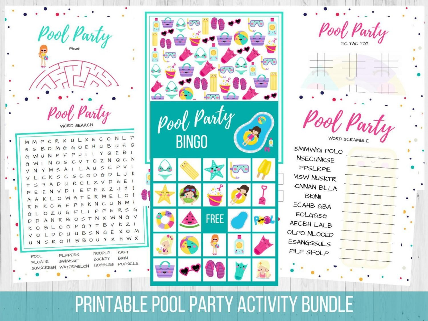 pool party games pack