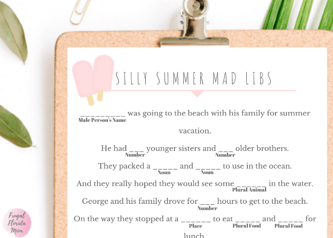 summer mad libs printable