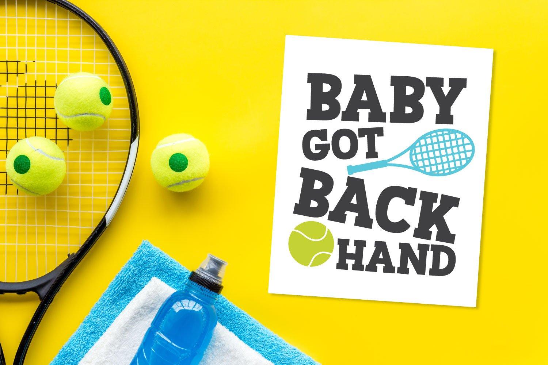 tennis SVG files on card