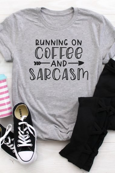 coffee and sarcasm SVG t-shirt and outfit
