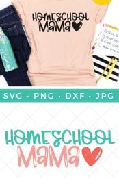 homeschool SVG pin image