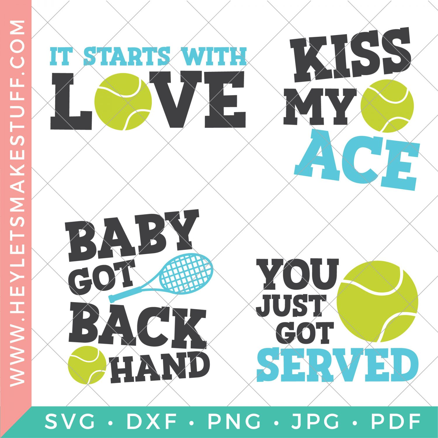 four tennis SVG files