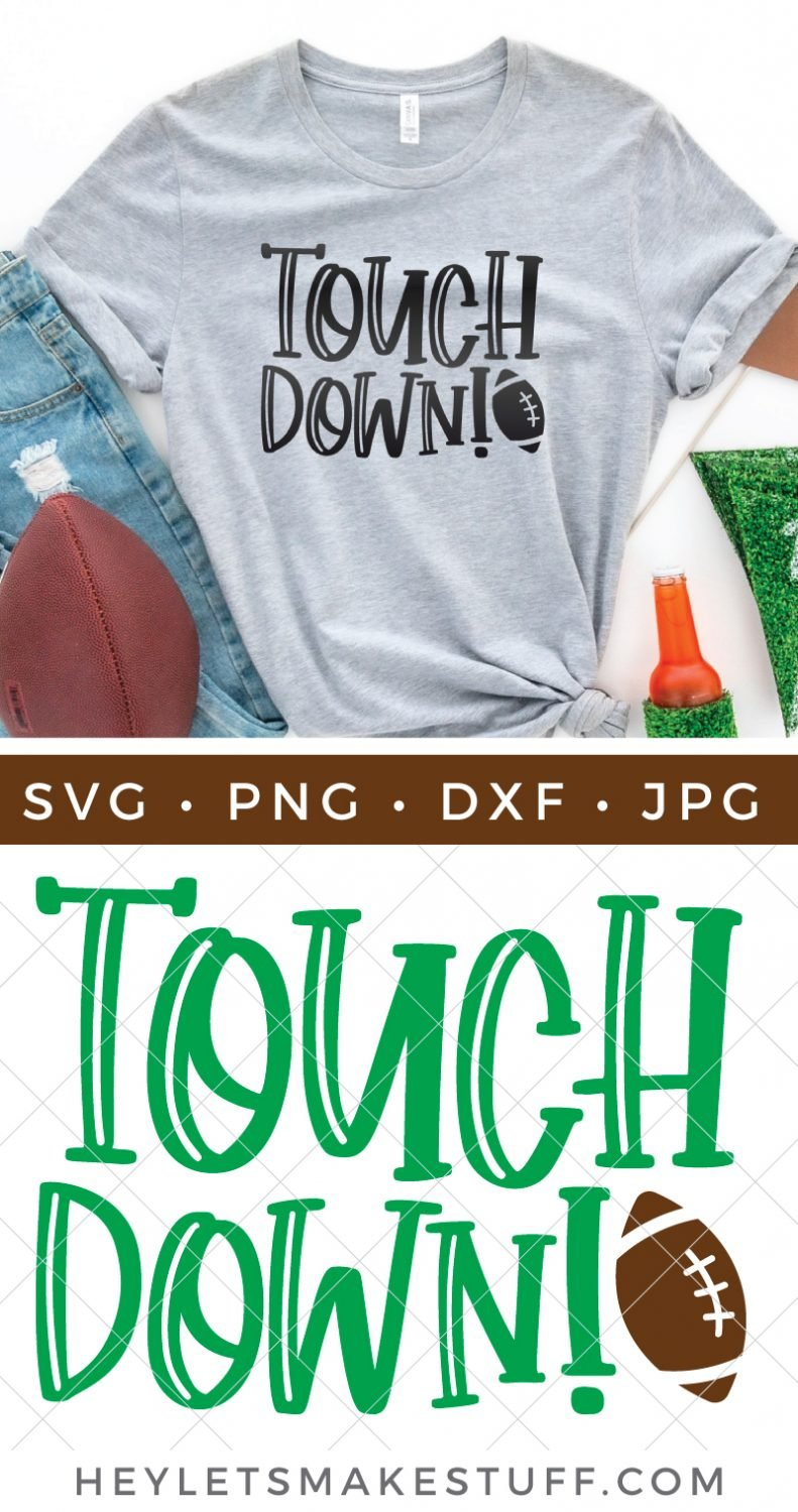 Free Touchdown Football SVG pin image