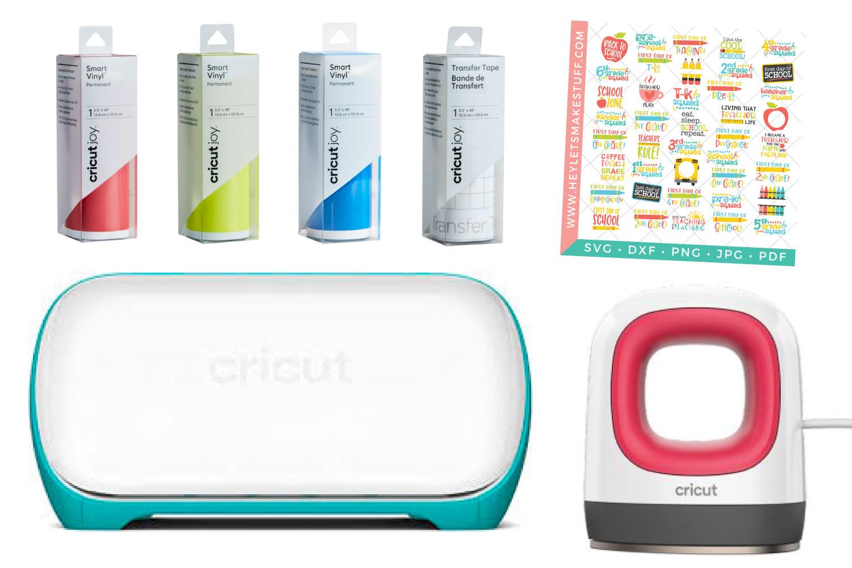 Back to School Bundle for Cricut Giveaway: Cricut Joy, Cricut Joy Materials, Cricut EasyPress Mini, and SVG files