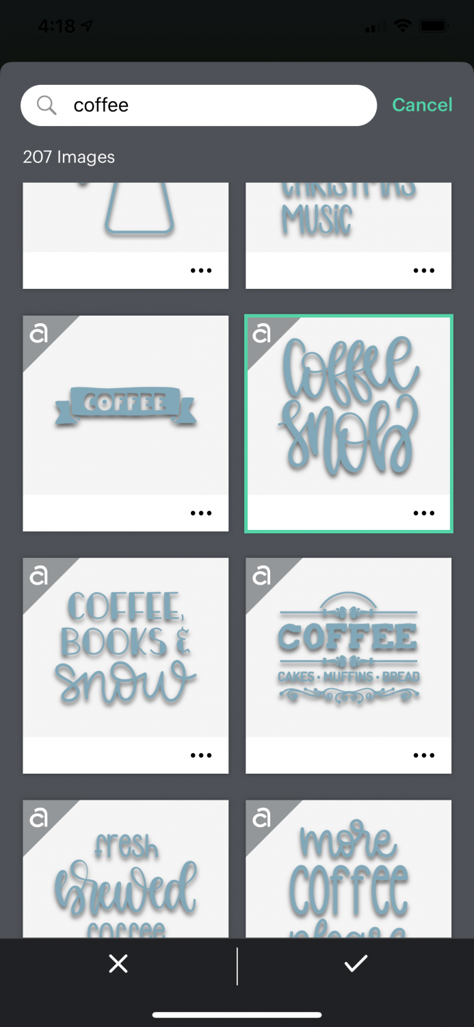 "Results for ""coffee"" image search."