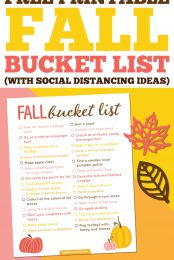 Looking for ways to enjoy the fall season, while keeping your family safe during COVID-19? Here's our huge fall bucket list, full of ideas for making beautiful (and socially distanced!) memories.