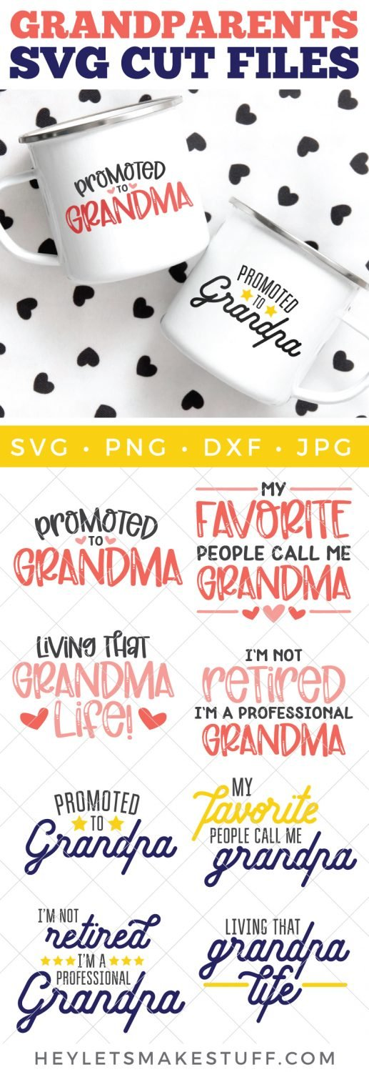 Grandma and Grandpa SVG files pin image