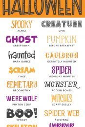 Getting ready for spooky Halloween crafting? These cheap and free Halloween fonts are perfect for all of your cutting machine crafts, including trick or treat bags, hoodies, decor, and more!