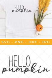 Hello Pumpkin SVG pin image