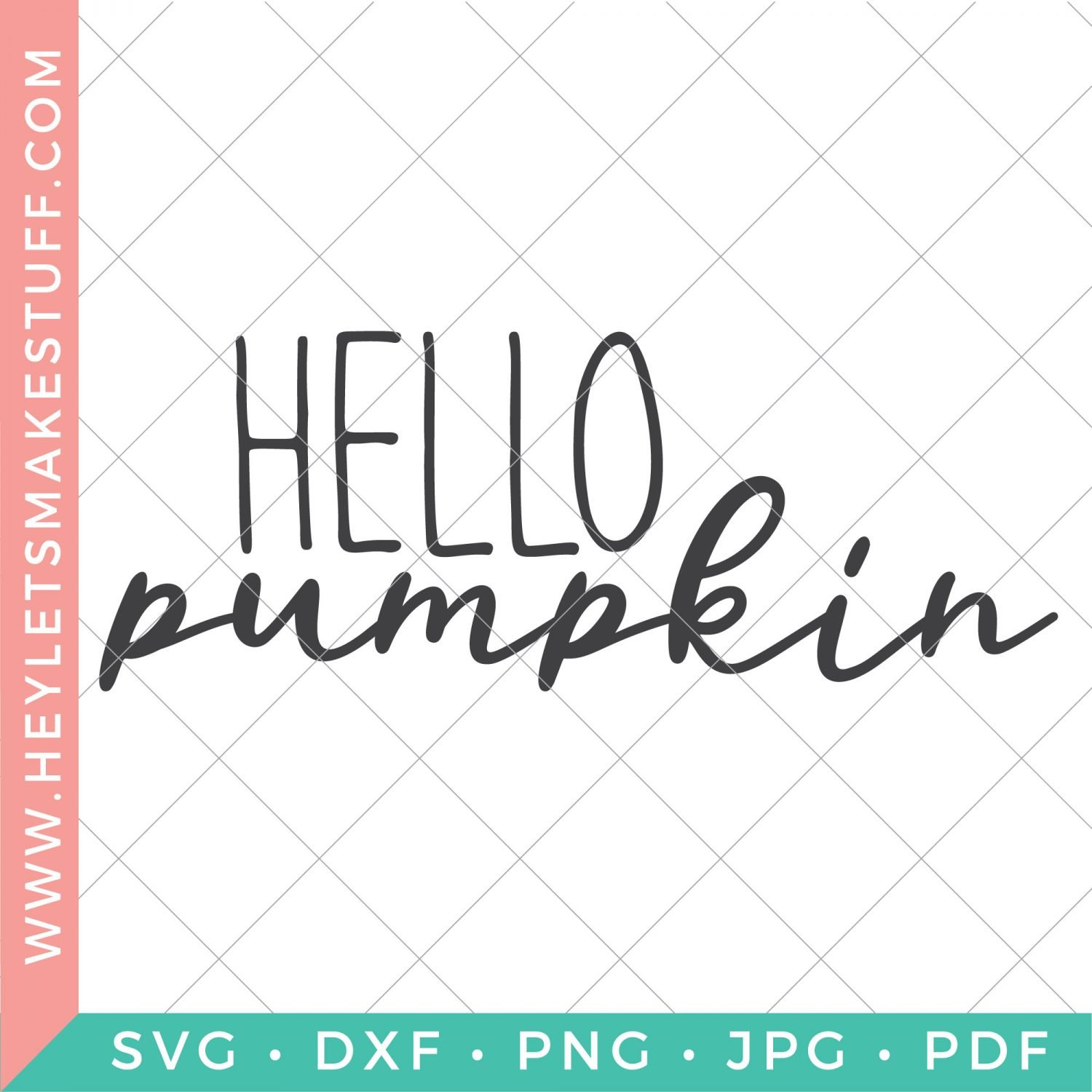 Hello Pumpkin SVG security image
