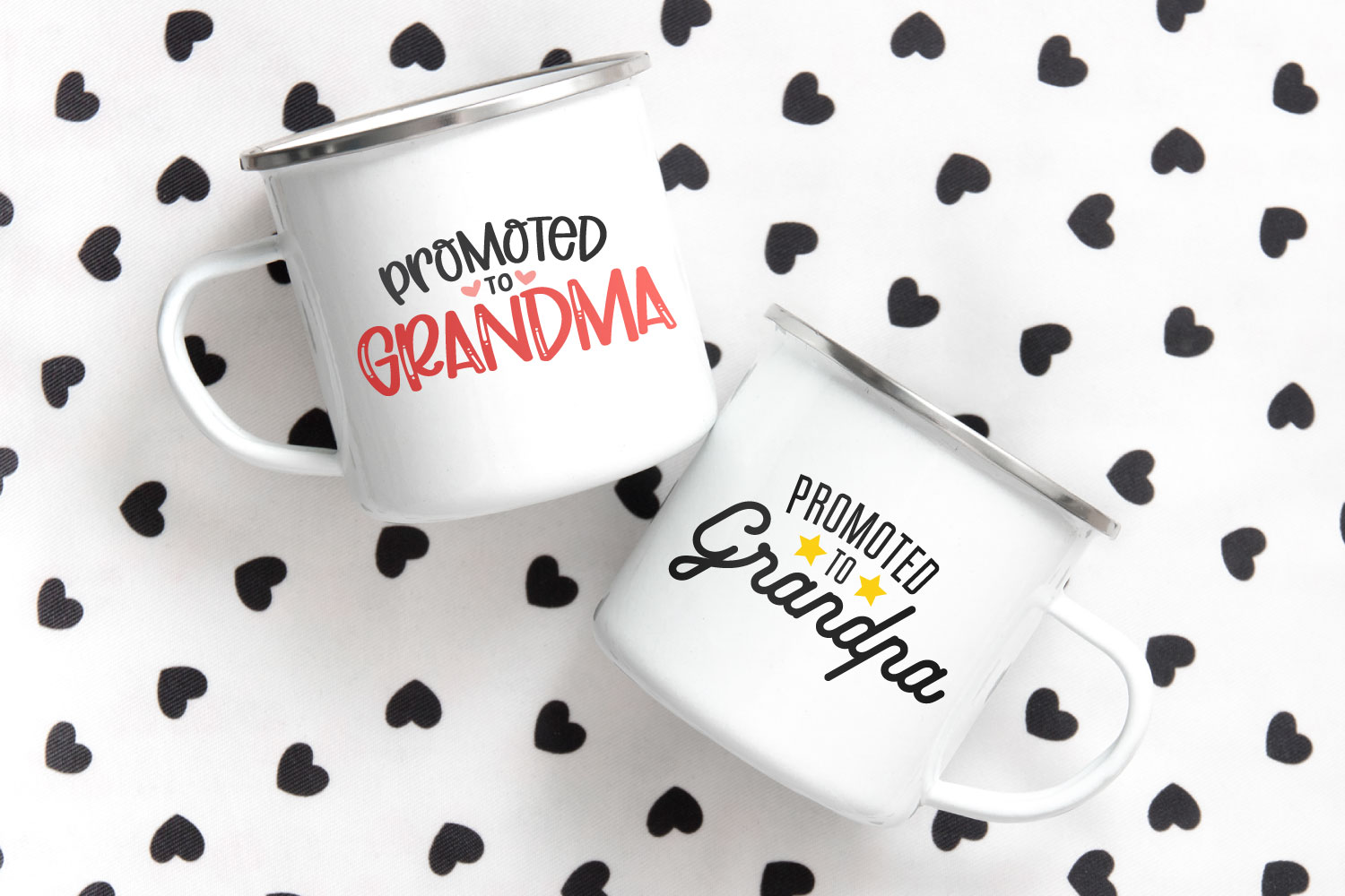 grandparents SVG files on coffee mugs